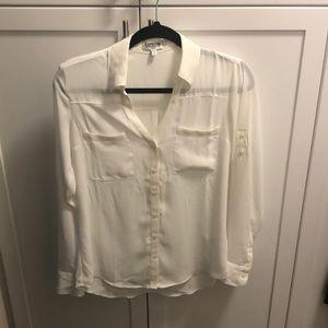 White portofino button up blouse